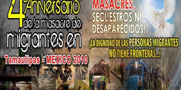 Conmemoración del cuarto aniversario de la Masacre de Tamaulipas