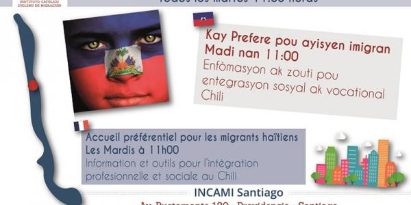 Taller dirigido al colectivo migrante haitiano residente en Chile