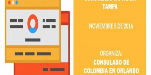 Consulado de Colombia en Orlando abre Consulado Móvil en Tampa